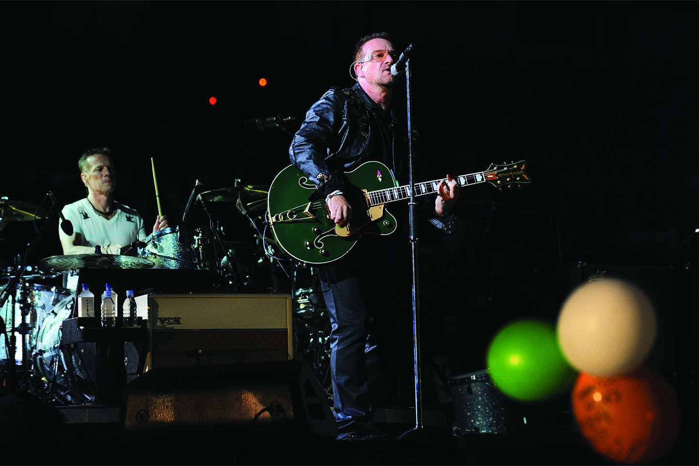 The band U2 performing