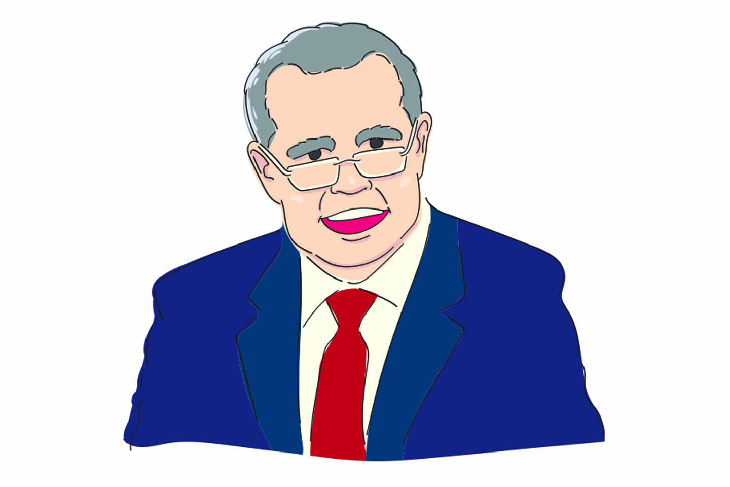 Cartoon of Scott Morrison