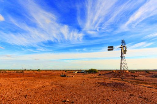 Outback Australia's draught affected landscape
