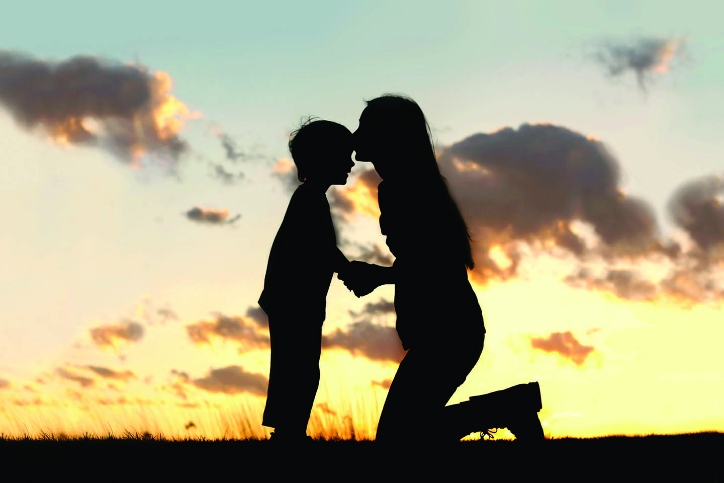 Mother and Child in sunset